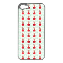 At On Christmas Present Background Apple Iphone 5 Case (silver)