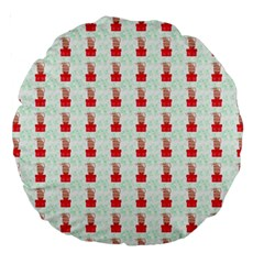 At On Christmas Present Background Large 18  Premium Round Cushions