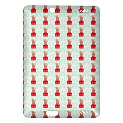 At On Christmas Present Background Amazon Kindle Fire Hd (2013) Hardshell Case