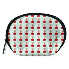 At On Christmas Present Background Accessory Pouches (medium)