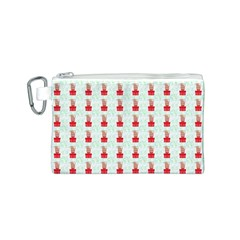At On Christmas Present Background Canvas Cosmetic Bag (s)
