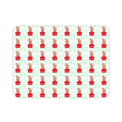 At On Christmas Present Background Double Sided Flano Blanket (mini)