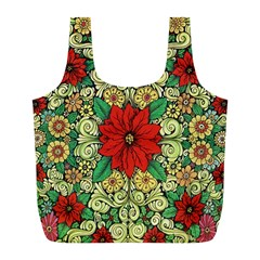 Calsidyrose Groovy Christmas Full Print Recycle Bags (l)