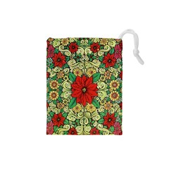 Calsidyrose Groovy Christmas Drawstring Pouches (small)