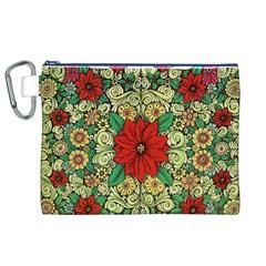 Calsidyrose Groovy Christmas Canvas Cosmetic Bag (xl)