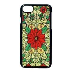 Calsidyrose Groovy Christmas Apple Iphone 8 Seamless Case (black)