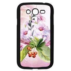 Wonderful Flowers, Soft Colors, Watercolor Samsung Galaxy Grand Duos I9082 Case (black)