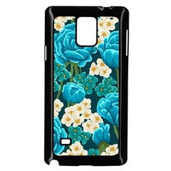 Light Blue Roses And Daisys Samsung Galaxy Note 4 Case (black)