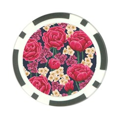 Pink Roses And Daisies Poker Chip Card Guard