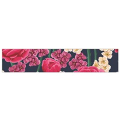 Pink Roses And Daisies Small Flano Scarf