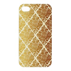 Vintage,gold,damask,floral,pattern,elegant,chic,beautiful,victorian,modern,trendy Apple Iphone 4/4s Hardshell Case