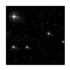 Starry Galaxy Night Black And White Stars Tile Coasters