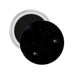 Starry Galaxy Night Black And White Stars 2 25  Magnets