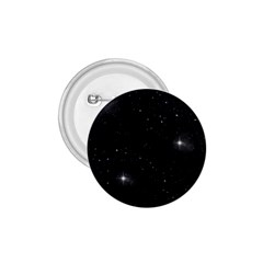 Starry Galaxy Night Black And White Stars 1 75  Buttons