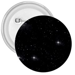 Starry Galaxy Night Black And White Stars 3  Buttons