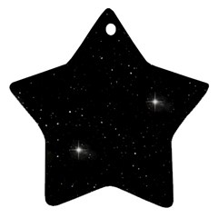 Starry Galaxy Night Black And White Stars Ornament (star)