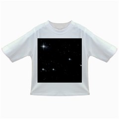 Starry Galaxy Night Black And White Stars Infant/toddler T Shirts