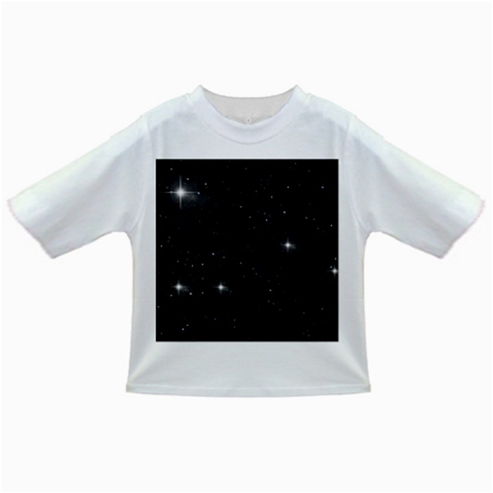 Starry Galaxy Night Black and White Stars Infant/Toddler T-Shirts