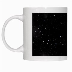 Starry Galaxy Night Black And White Stars White Mugs