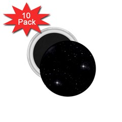 Starry Galaxy Night Black And White Stars 1 75  Magnets (10 Pack)