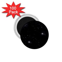 Starry Galaxy Night Black And White Stars 1 75  Magnets (100 Pack)