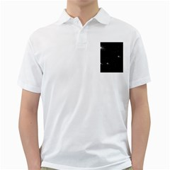 Starry Galaxy Night Black And White Stars Golf Shirts
