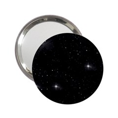 Starry Galaxy Night Black And White Stars 2 25  Handbag Mirrors