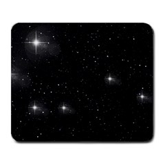 Starry Galaxy Night Black And White Stars Large Mousepads