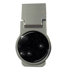 Starry Galaxy Night Black And White Stars Money Clips (round)