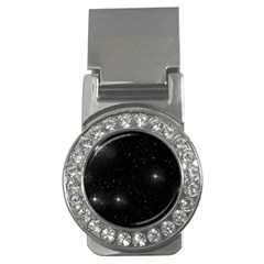 Starry Galaxy Night Black And White Stars Money Clips (cz)