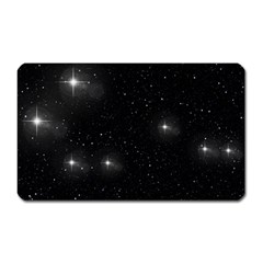 Starry Galaxy Night Black And White Stars Magnet (rectangular)