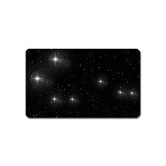 Starry Galaxy Night Black And White Stars Magnet (name Card)