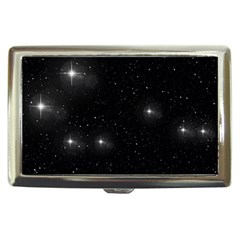 Starry Galaxy Night Black And White Stars Cigarette Money Cases