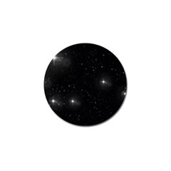 Starry Galaxy Night Black And White Stars Golf Ball Marker (10 Pack)