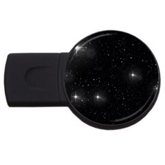 Starry Galaxy Night Black And White Stars Usb Flash Drive Round (2 Gb)