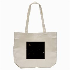 Starry Galaxy Night Black And White Stars Tote Bag (cream)