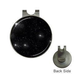 Starry Galaxy Night Black And White Stars Hat Clips With Golf Markers