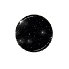 Starry Galaxy Night Black And White Stars Hat Clip Ball Marker (4 Pack)