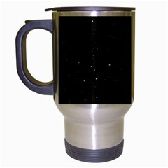 Starry Galaxy Night Black And White Stars Travel Mug (silver Gray)