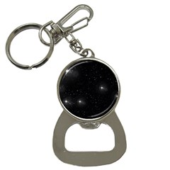Starry Galaxy Night Black And White Stars Button Necklaces