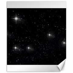 Starry Galaxy Night Black And White Stars Canvas 8  X 10