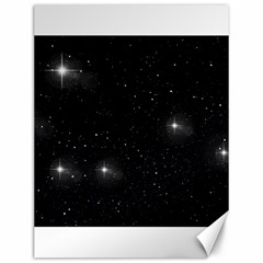 Starry Galaxy Night Black And White Stars Canvas 12  X 16