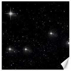Starry Galaxy Night Black And White Stars Canvas 16  X 16