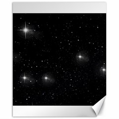 Starry Galaxy Night Black And White Stars Canvas 16  X 20