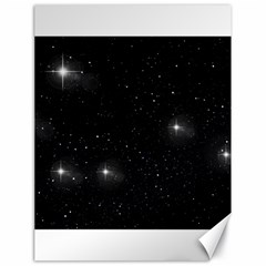 Starry Galaxy Night Black And White Stars Canvas 18  X 24
