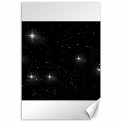 Starry Galaxy Night Black And White Stars Canvas 24  X 36
