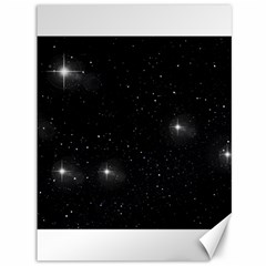 Starry Galaxy Night Black And White Stars Canvas 36  X 48