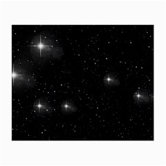 Starry Galaxy Night Black And White Stars Small Glasses Cloth (2 Side)