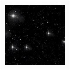 Starry Galaxy Night Black And White Stars Medium Glasses Cloth