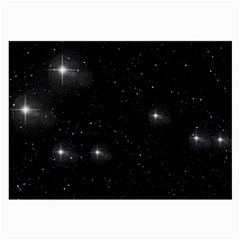 Starry Galaxy Night Black And White Stars Large Glasses Cloth (2 Side)
